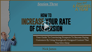 Bonus Video 3: How To Increase Your Rate Of Conversion
